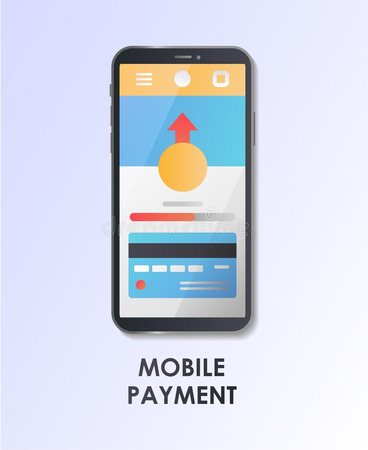 Mobile payment. Material Design UI/UX and GUI Screen. Flat vector illustration. vector illustration