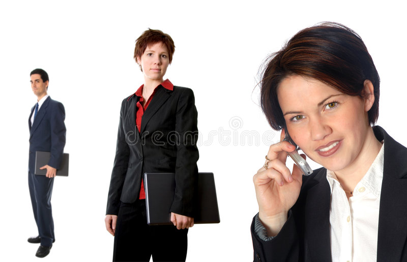 On the phone. Woman talking on cell phone stock photos