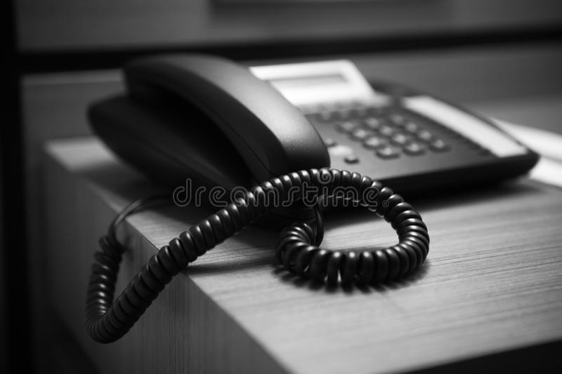 Phone. Black-and-white photo royalty free stock photos