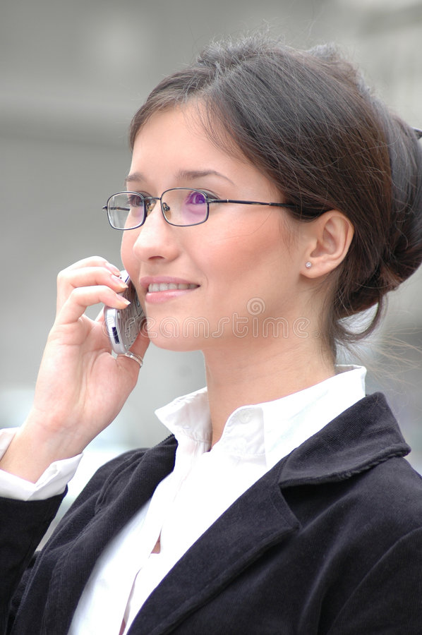 Download On the phone 2 stock photo. Image of office, competition - 111566