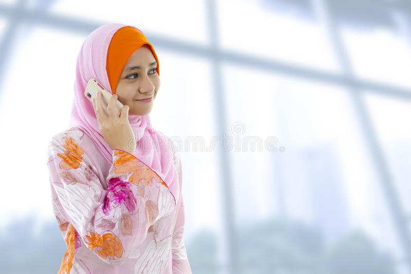 Download On the phone. stock image. Image of indonesian, asia - 24620845