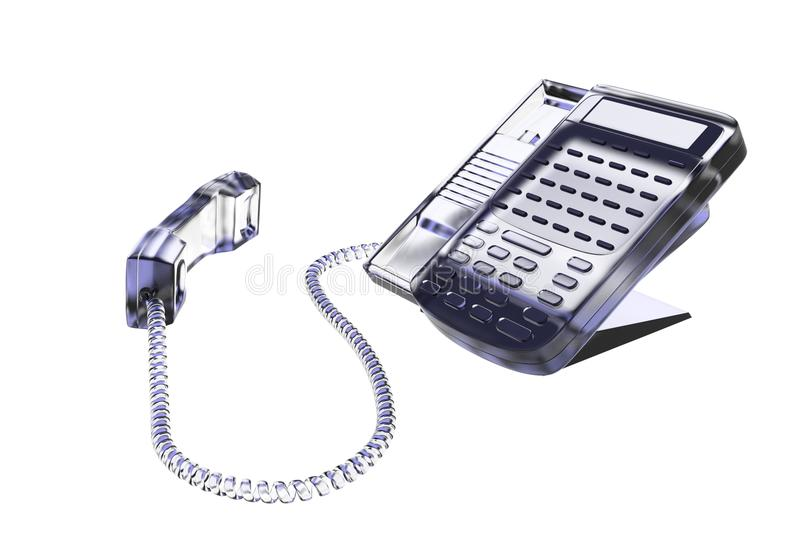 Download Phone 3D rendered white stock illustration. Image of isolated - 16320722