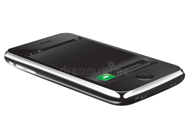 Phone. 3D illustration of a cellular phone royalty free illustration