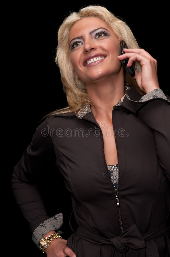 Download On the phone stock photo. Image of listening, blond, girl - 9169766
