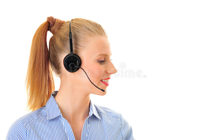 On the phone from aside woman royalty free stock images