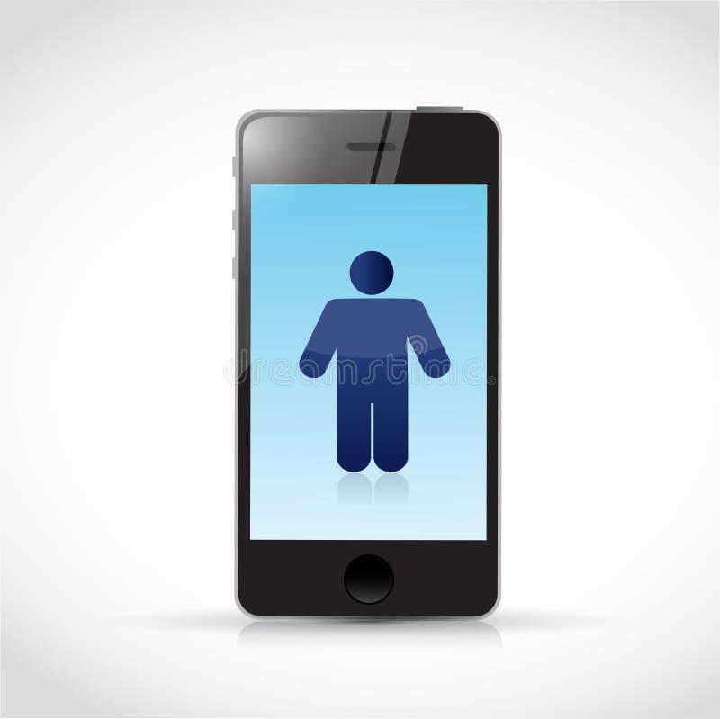 Download Phone And Avatar Illustration Design Stock Illustration - Illustration of global, modern: 39509091