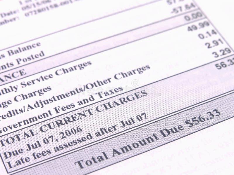 Download Phone bill stock photo. Image of telecommunications, cash - 1809688