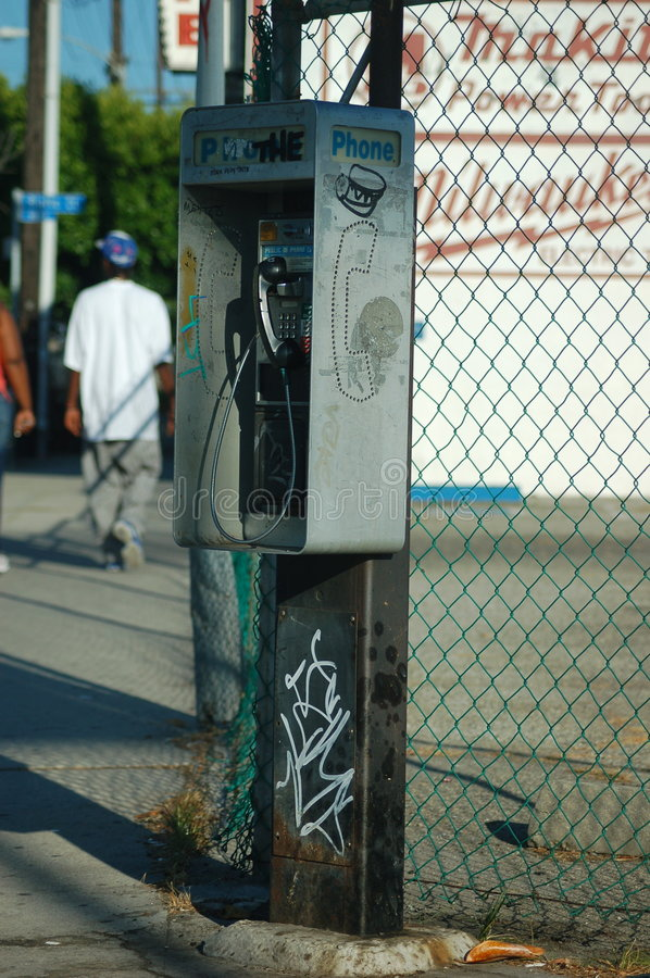 Phone Booth stock photo
