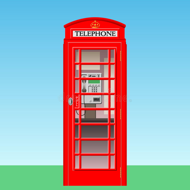 Download Phone Booth stock vector. Image of telephone, card, british - 15324832