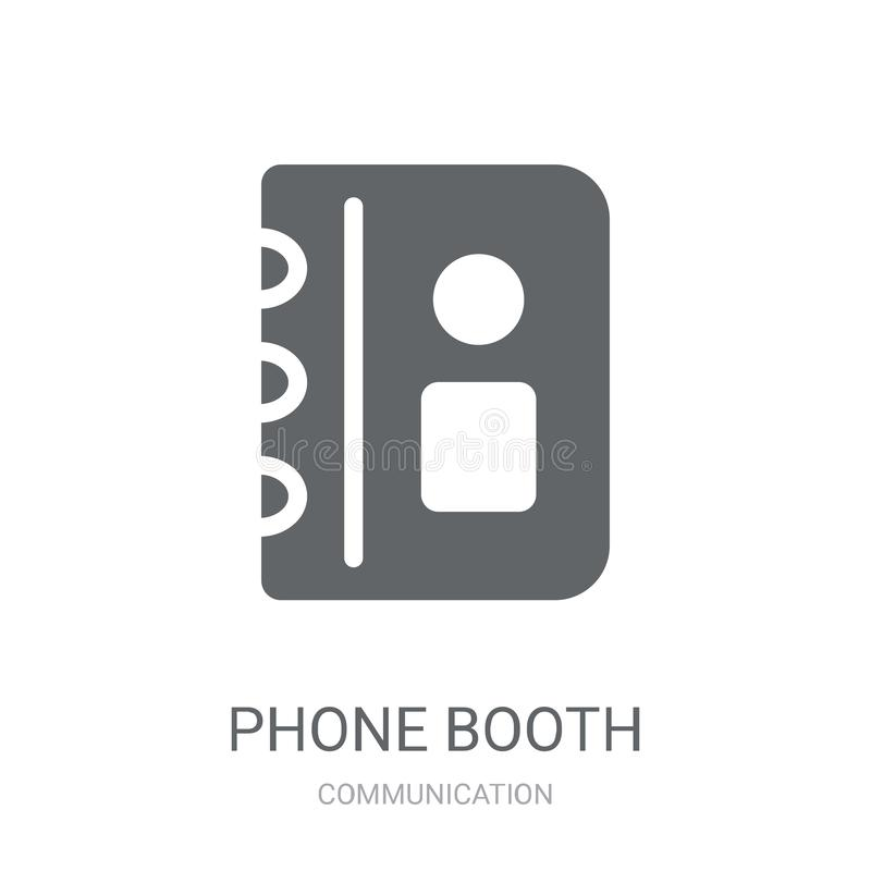 Phone booth icon. Trendy Phone booth logo concept on white background from Communication collection stock illustration