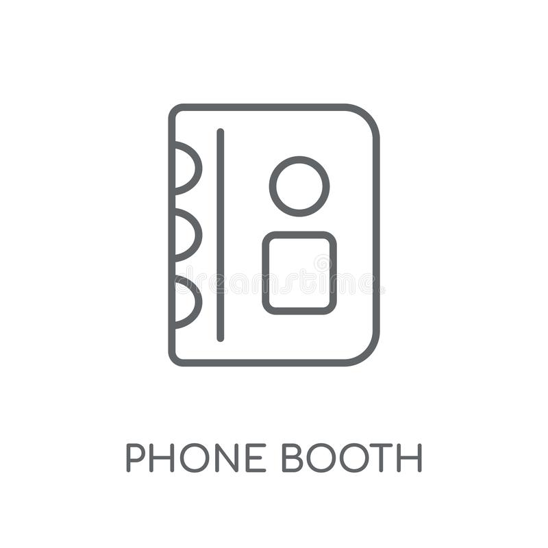 Phone booth linear icon. Modern outline Phone booth logo concept vector illustration
