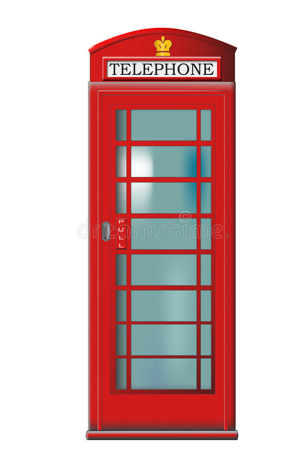 Phone booth vector stock illustration