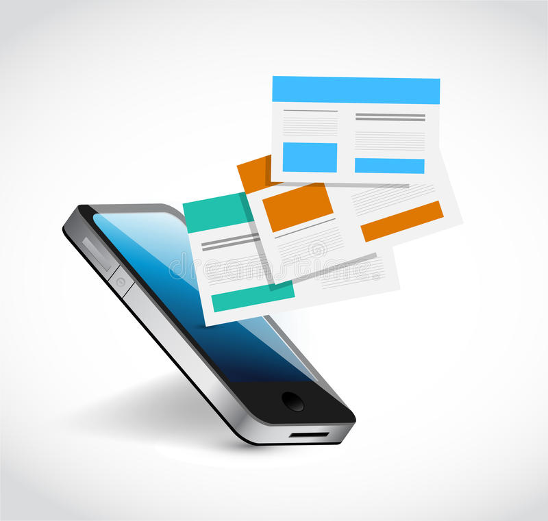 Phone and browsers templates illustration design. Over a white background stock illustration