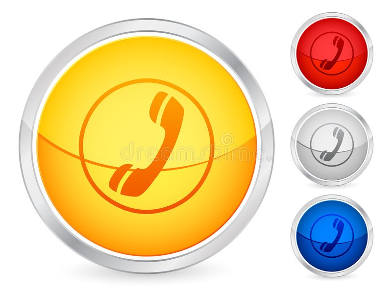 Phone button royalty free illustration