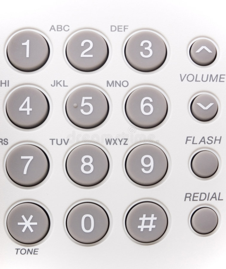 Phone buttons stock images