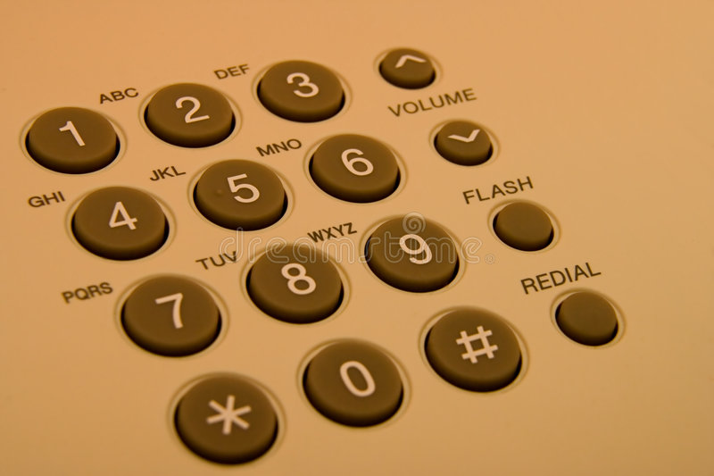 Phone buttons stock photography