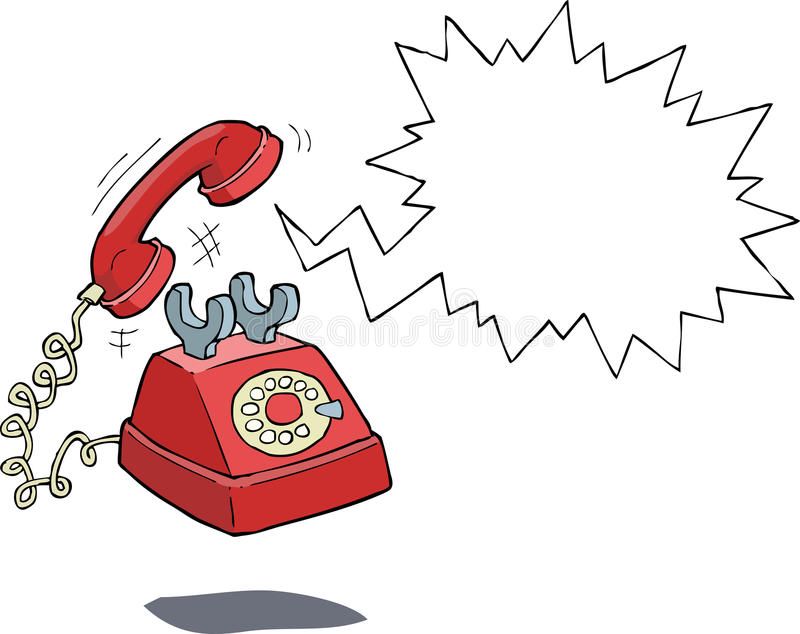 Phone call. The phone rings on a white background vector illustration