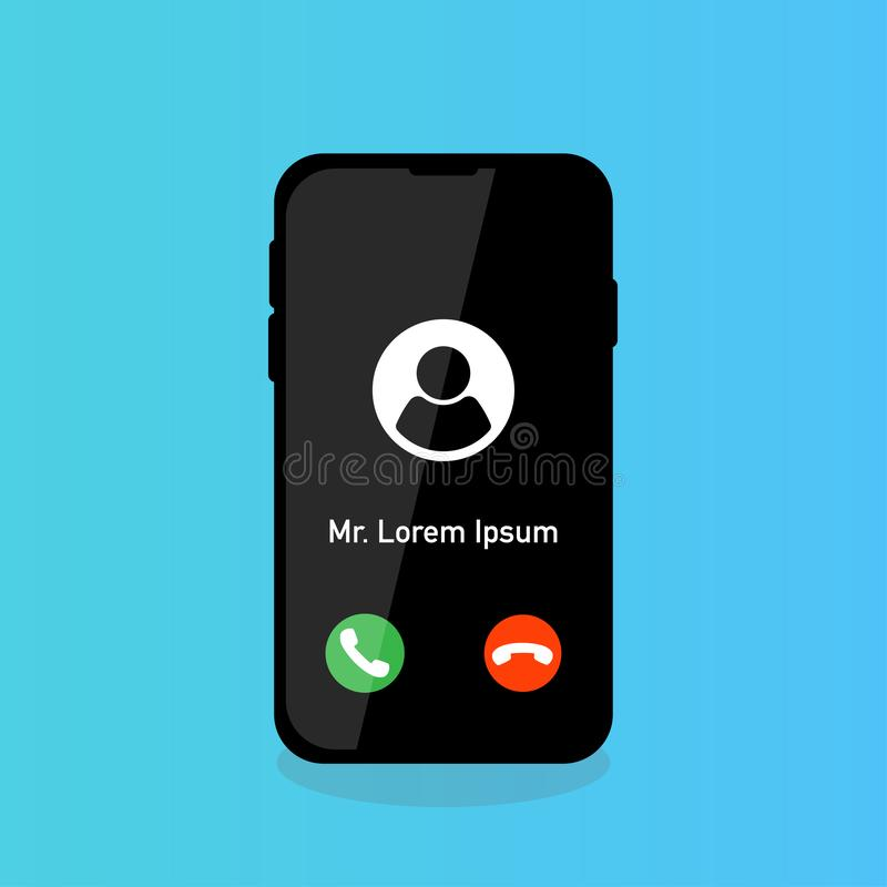 phone calling accept reject with person icon royalty free illustration