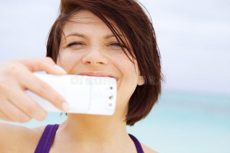 Download Phone camera stock photo. Image of cellphone, female, carefree - 8021612