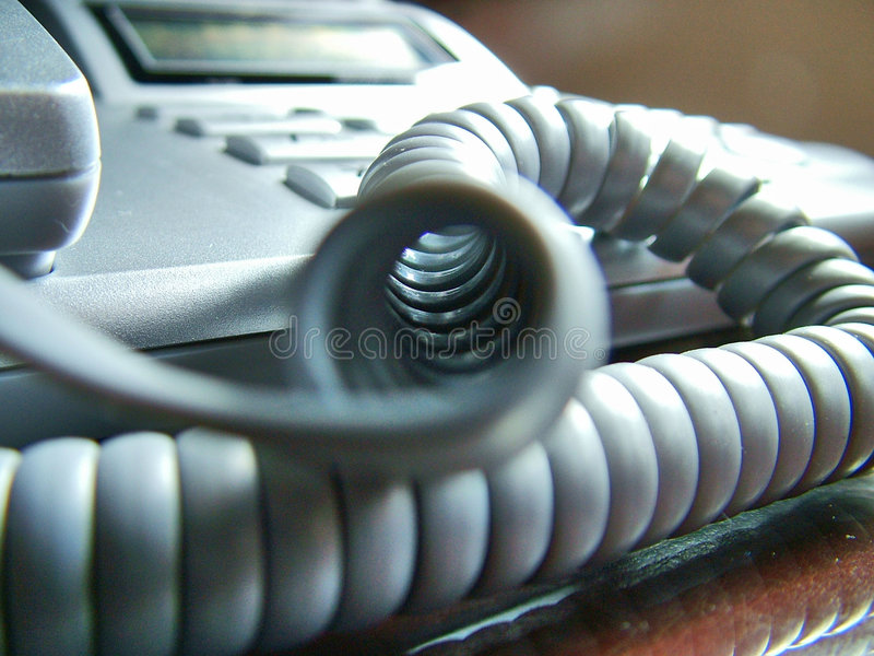 Phone Cord stock photo