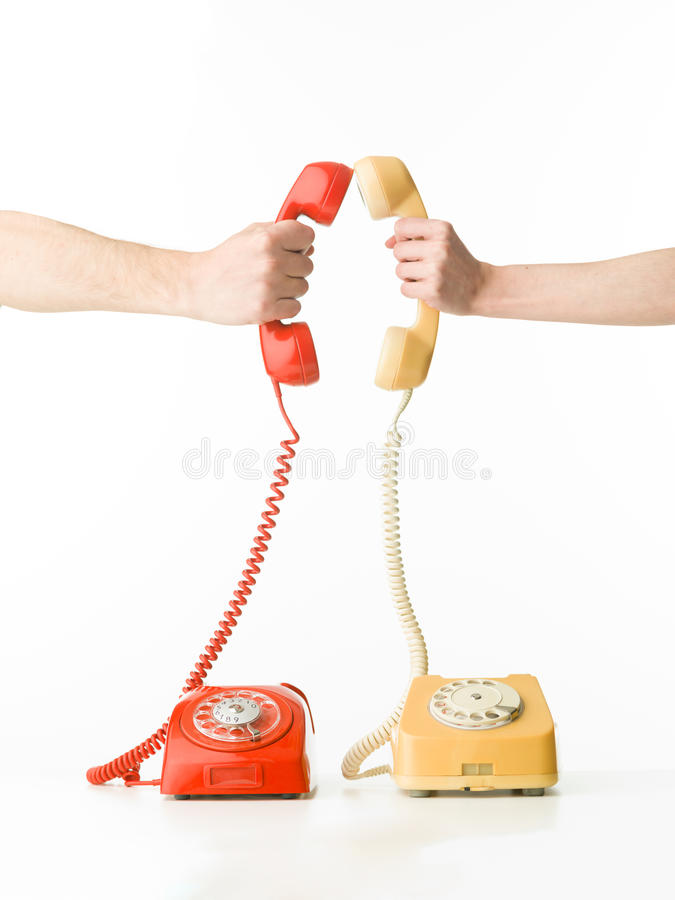 Phone dating royalty free stock photo