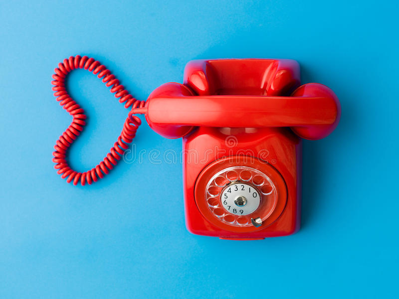 Phone dating service royalty free stock images