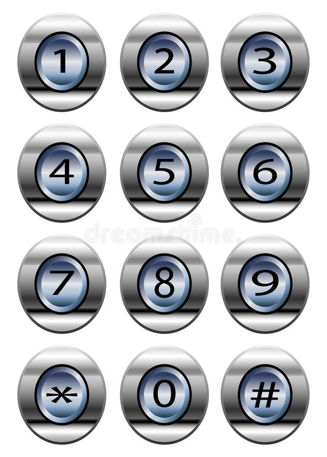 Free Phone Dial Pad Royalty Free Stock Photography - 36178937