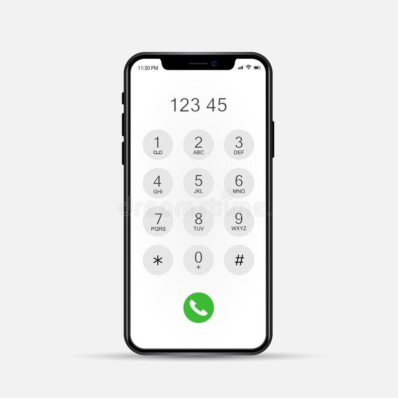 Free Phone Dial Screen. Display Keypad With Numberst For Mobile Phone. Royalty Free Stock Photo - 204294865