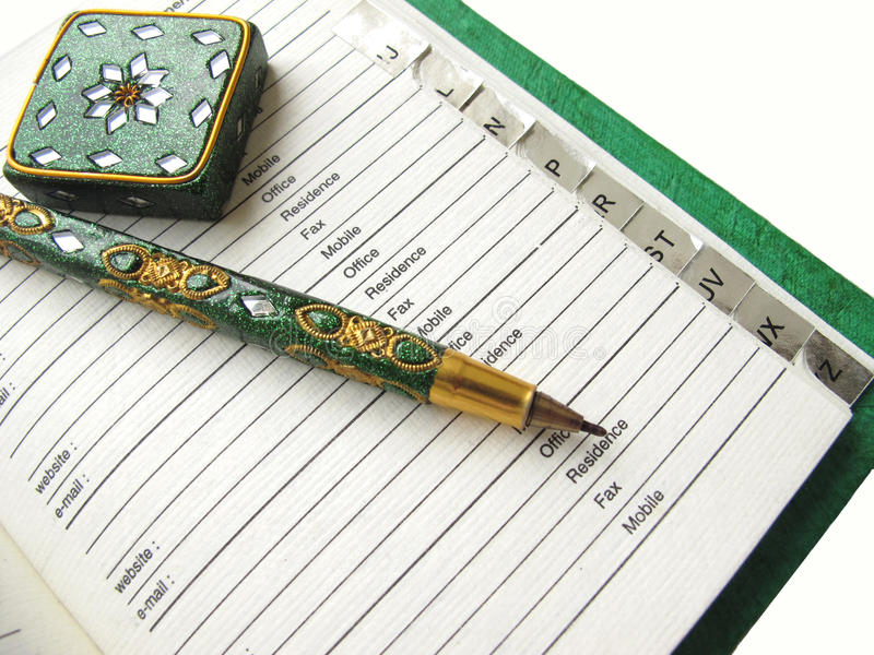 Download Phone diary and Pen stock image. Image of phone, design - 15826517
