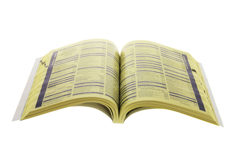 Phone Directory. On Isolated White Background royalty free stock image