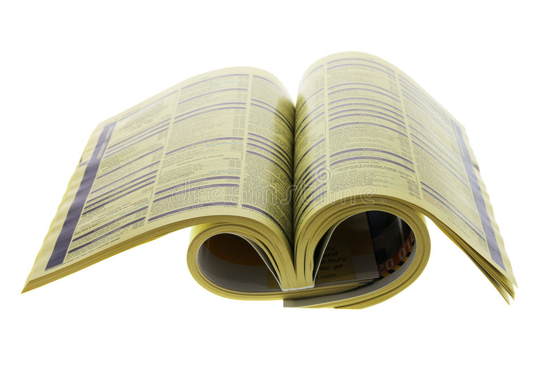 Phone Directory. On Isolated White Background stock images