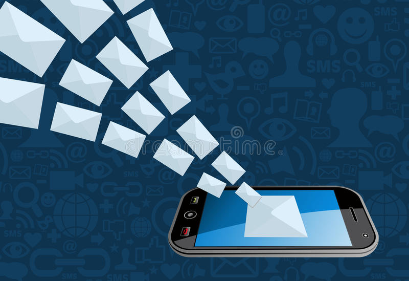 Phone email marketing icon splash vector illustration