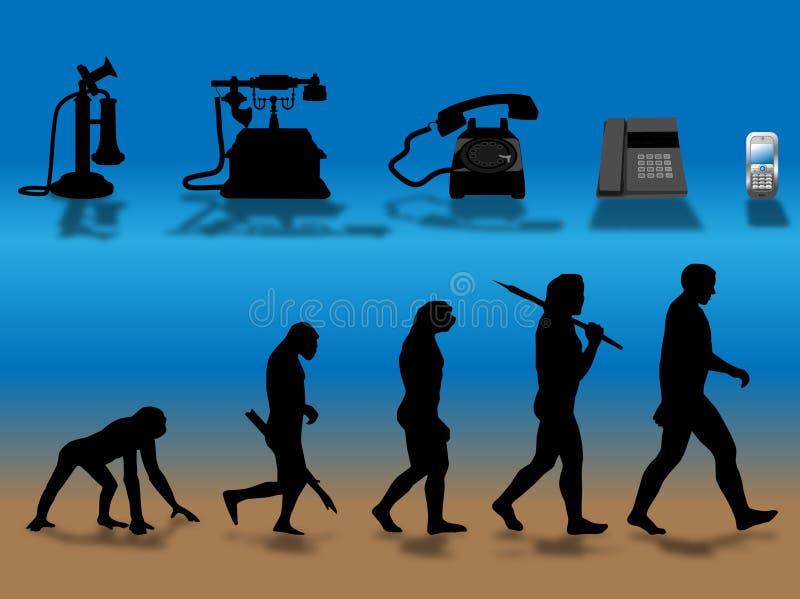 Download Phone evolution stock illustration. Illustration of human - 11142820