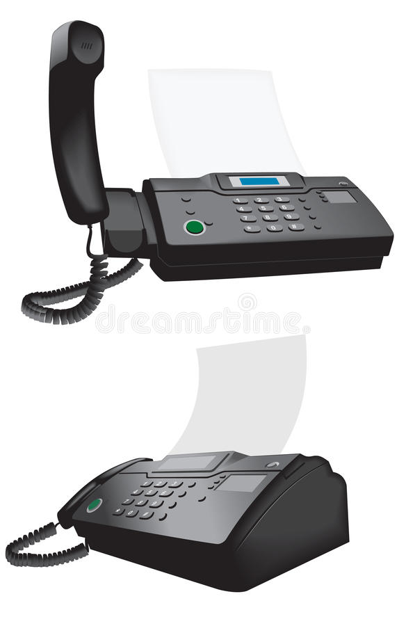 Phone-fax royalty free stock photo