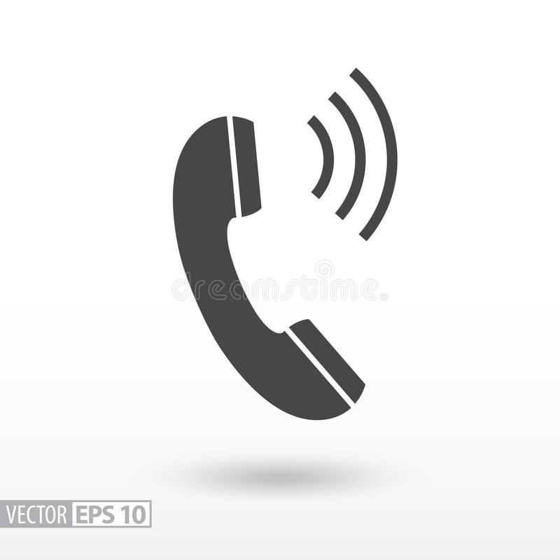 Phone flat Icon. Sign Phone. Vector logo for web design, mobile and infographics royalty free illustration