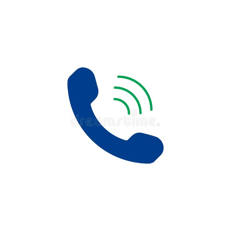 Phone flat icon. Single high quality symbol of silhouette telephone vector for web design or mobile app. Color signs of contact for design logo. Single vector illustration