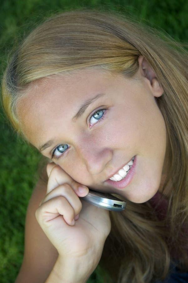 Phone Girl royalty free stock photo