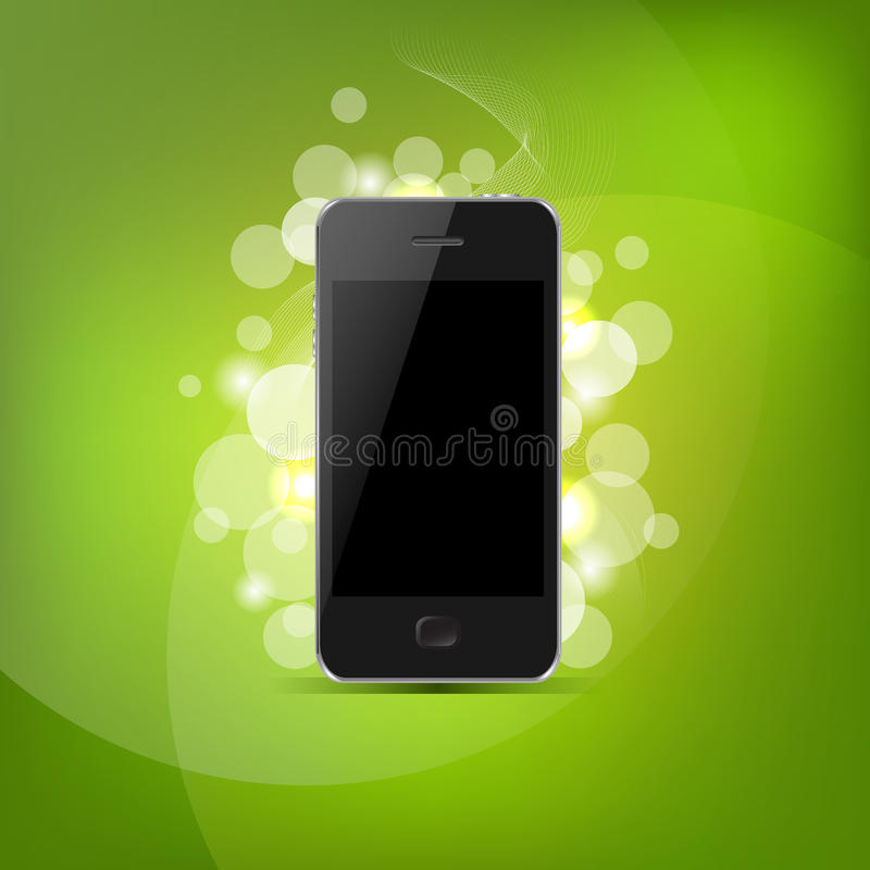 Phone And Green Bokeh vector illustration
