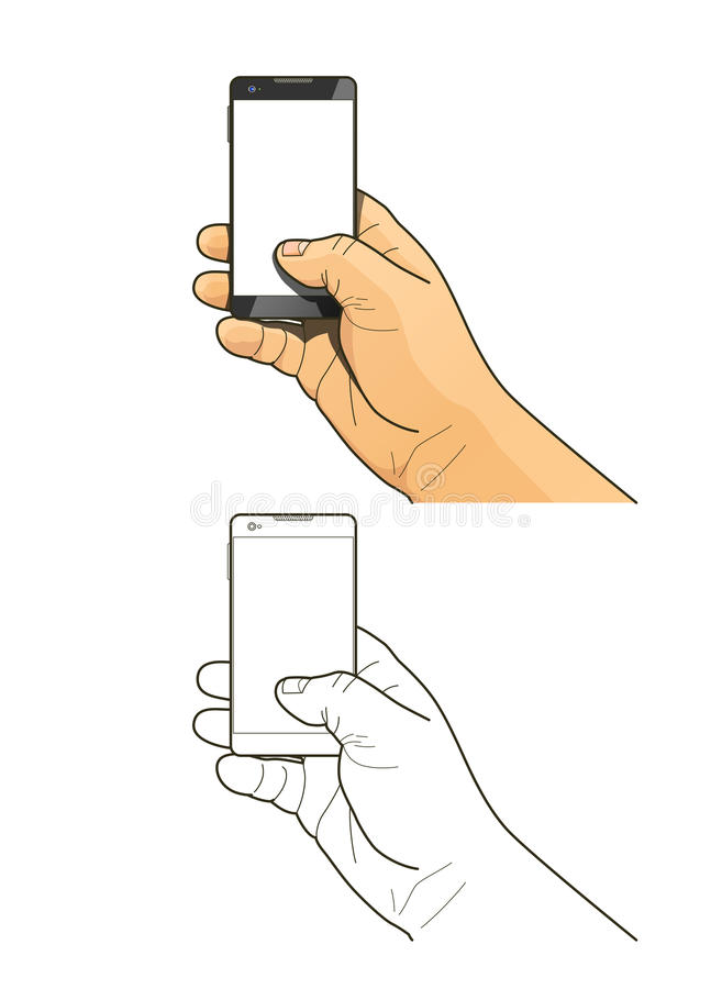 Download Phone in hand stock illustration. Image of keeping, surface - 41729073
