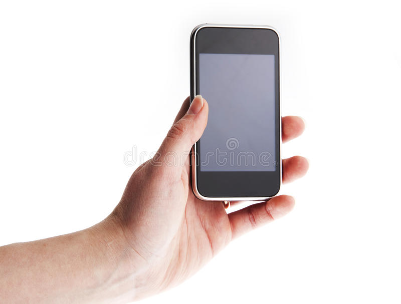 Phone in the hands royalty free stock image