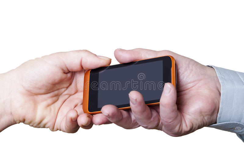 Download Phone and hands. stock image. Image of hold, empty, blank - 36636583