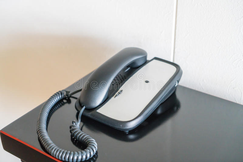 Phone in hotel room . royalty free stock image
