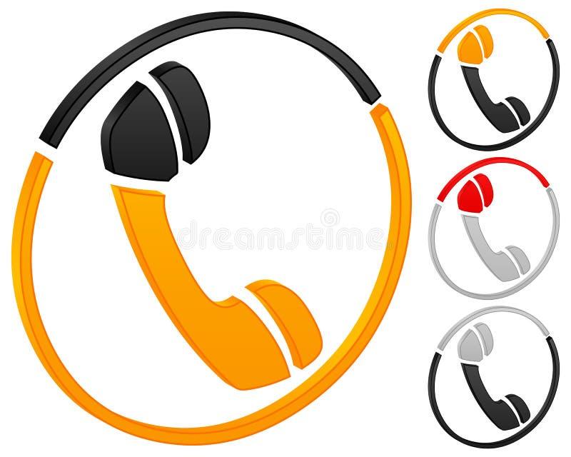 Download Phone icon stock illustration. Image of orange, computer - 10041061