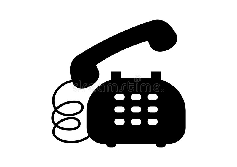 Phone Icon. Illustration of black color phone icon or symbol stock illustration