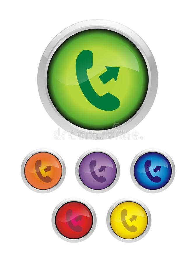 Phone Icon Image. Fresh phone icon image, best graphic design for web, Call us icon stock illustration