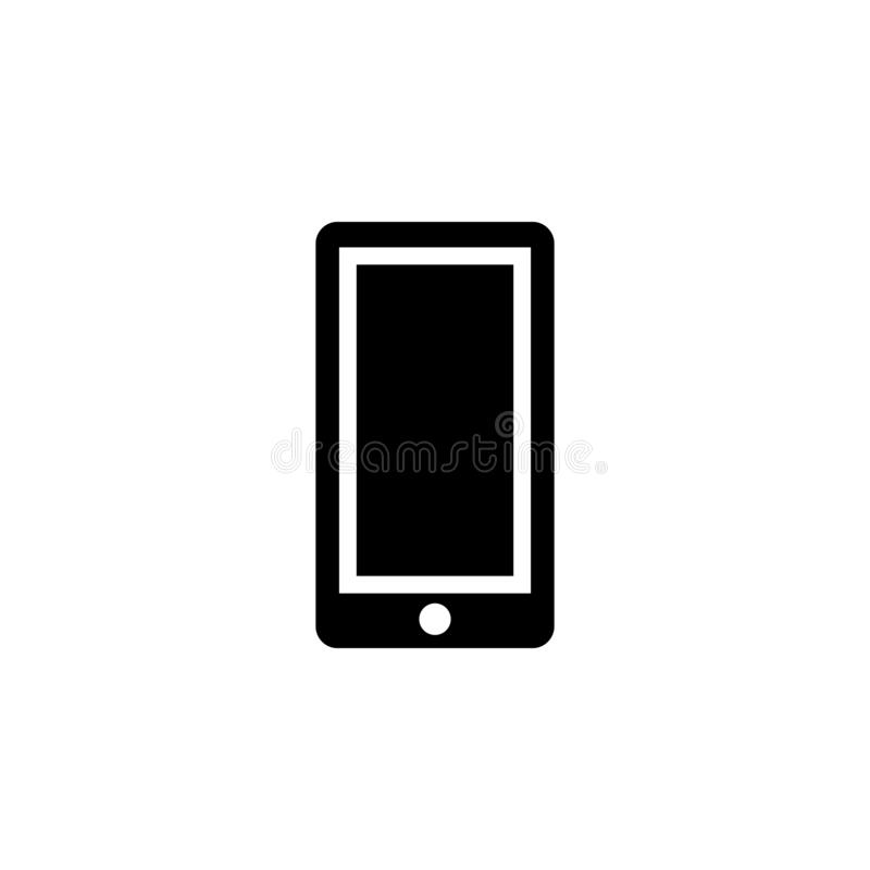 Phone icon. Simple glyph, flat vector of Web icons for UI and UX, website or mobile application. On white background royalty free illustration