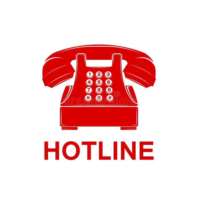 Phone Icon Telephone And Support Hotline Helpdesk Symbol Stock