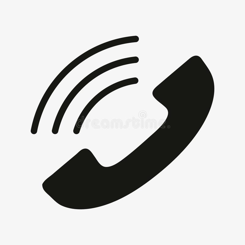 Phone icon in trendy flat style isolated on white background. Vector illustration. royalty free illustration