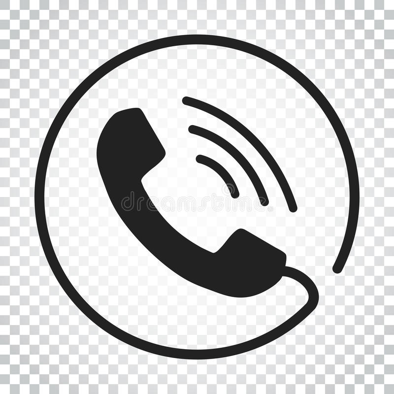 Phone icon vector, contact, support service sign on isolated background. Telephone, communication icon in flat style. Simple vector illustration
