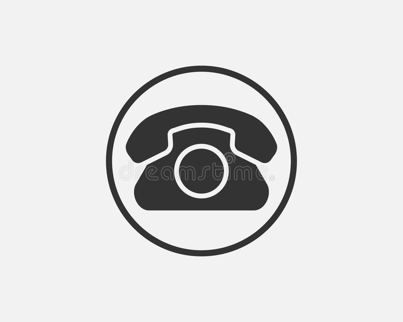 Phone icon vector illustration. Call center app. Telephone icons trendy flat style. Contact us line silhouette stock illustration